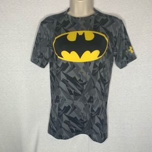 4/$35 Under armour L Tee T-Shirt Batman Heat Gear